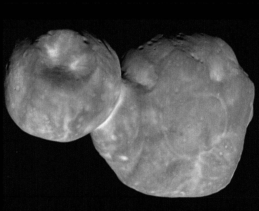 Future advances in telescope technology promised more detailed examinations of Kuiper Belt objects like Arrokoth. (NASA/Johns Hopkins University Applied Physics Laboratory/Southwest Research Institute/National Optical Astronomy Observatory)